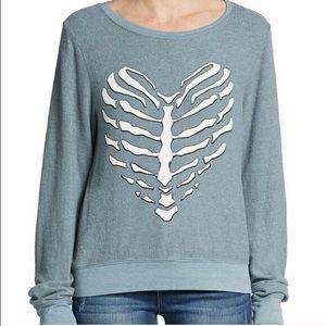 Wildfox Skeleton Heart Sweatshirt
